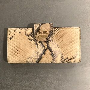 Authentic Coach Python Leather Skinny Wallet